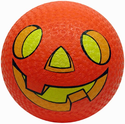 Baden Rubber 8.5-Inch Playground Ball (Jack-O-Lantern) -