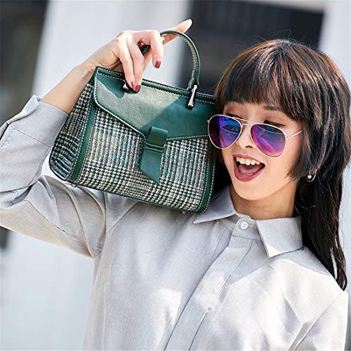 Fashion Verde Temperamento Semplice Casual Soul Multifunzione a Borse Borse Borsa tracollaTendenza Monospalla Hot Particolari Jamie Selvaggio a Plaid mano Messenger qwHX1naB