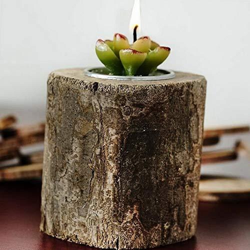 Mikash Natural Wood Tea Light Holders Wedding Favor Centerpiece Decorations Sale | Model WDDNGDCRTN - 16160 | 10 Pieces - Imperial Crystal Twelve Light
