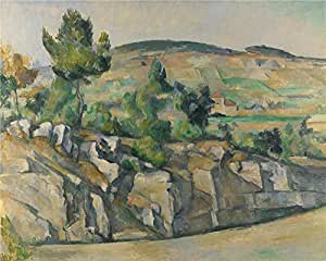 The high quality polyster Canvas of oil painting 'Paul Cezanne Hillside in Provence ' ,size: 24 x 30 inch / 61 x 76 cm ,this Reproductions Art Decorative Prints on Canvas is fit for Kids Room gallery art and Home gallery art and Gifts