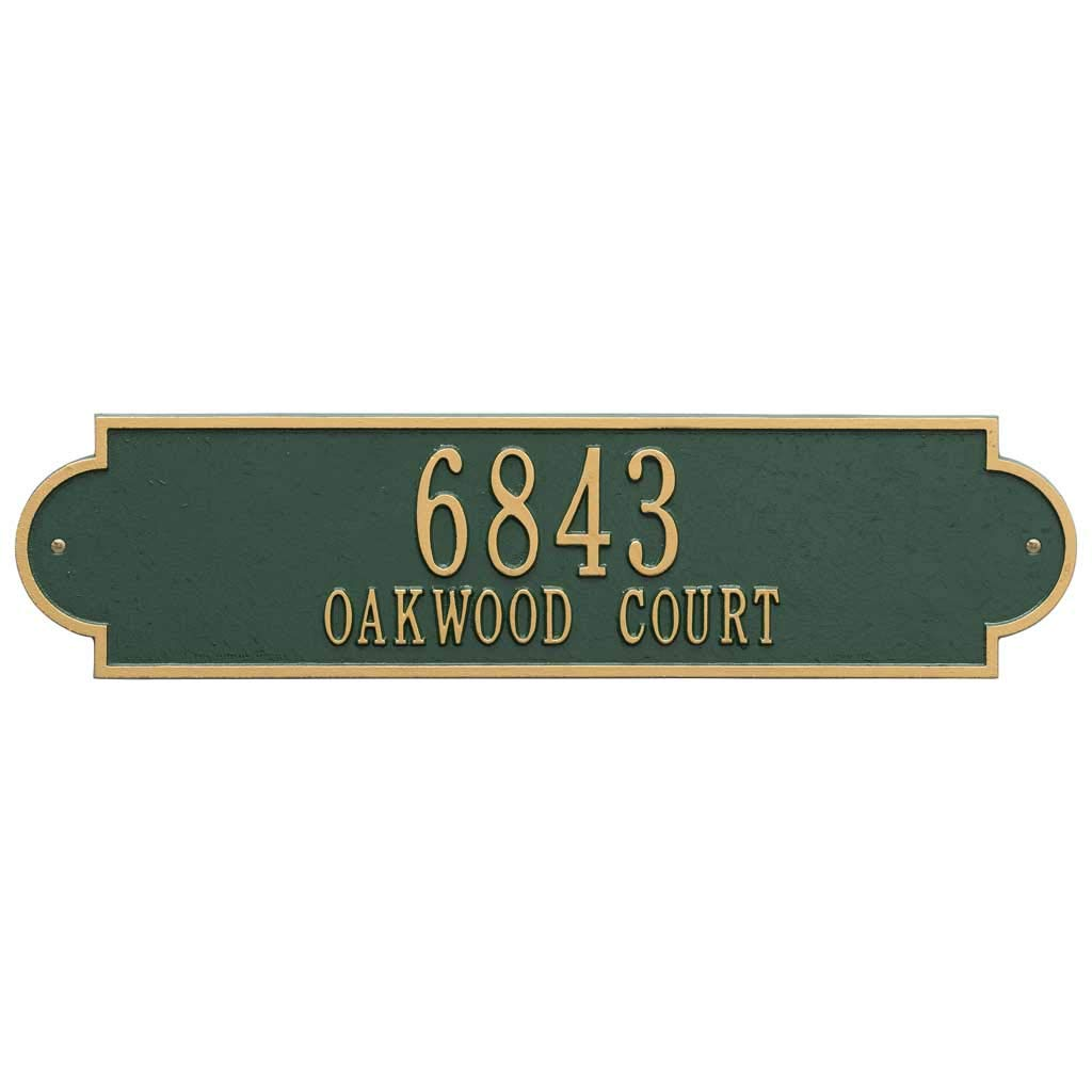 Metal Address Sign - Wide House Number Plaque - Displays House Number and Street Name - Choose Your Color - P2682