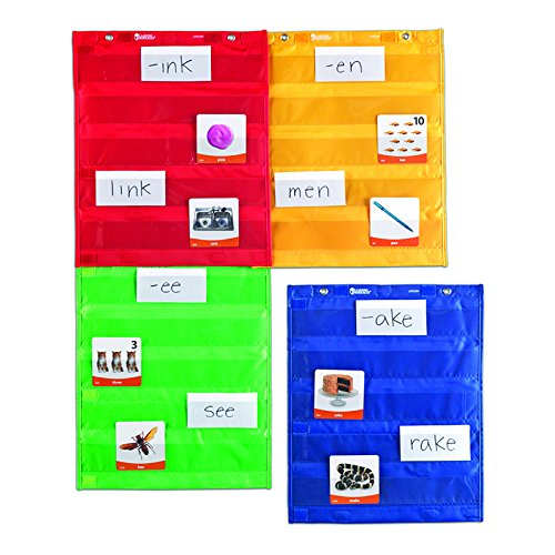LEARNING RESOURCES MAGNETIC POCKET CHART SQUARES (Set of 3) by Learning Resources