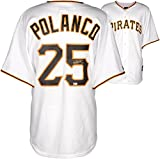 Gregory Polanco Pittsburgh Pirates Autographed Replica White Jersey - Fanatics Authentic Certified - Autographed MLB Jerseys