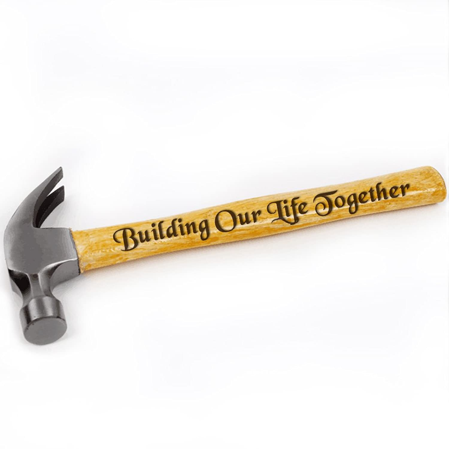 Amazon Building Our Life Together Engraved Hammer Wedding Gift