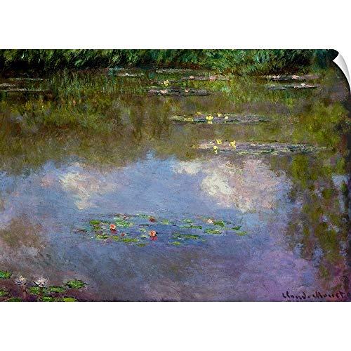 (CANVAS ON DEMAND Water Lilies, The Cloud Wall Peel Art Print, 36