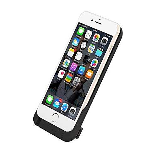 iPhone 6 6S Battery Case, Ultra Slim Extended iPhone 6 Battery Case 6800mAh, External Portable Charging Case, High Capacity Battery Pack Bank Cover (Black) by PowerLocus (Image #2)