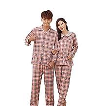 Dremart Popular Plaid Cotton Pjs Couples Matching Pajamas