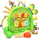PACK A BAND Kids Musical Instruments for Toddlers and Preschool Children, 17-Piece Educational Toy Percussion Set for Boys and Girls with Storage Backpack