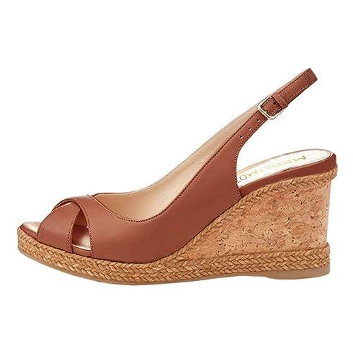 12667eacfe1 MERUMOTE Women's Wedges Sandals Platform Shoes Summer Middle Heels Open Toe  Sandals