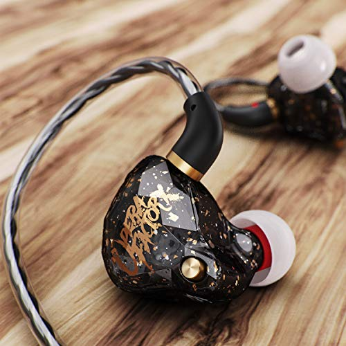 in Ear Headphones Earbuds, OperaFactory OS1 Over Ear Buds Gaming Earbuds IEM 3.5mm Stereo in Ear Earphone Premium Bass Noise Isolating with Mic Microphone for Running Sports Workout