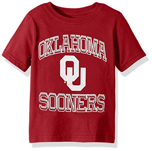 NCAA Oklahoma Sooners Toddler Gridiron Hero Short Sleeve Tee, Dark Red, 2T