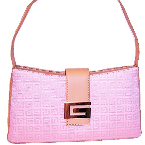 fablic G Signature Pink Bag Canvas Handbag Purse Designer Inspired Classic Plaid (Inspired Canvas Handbag Designer)
