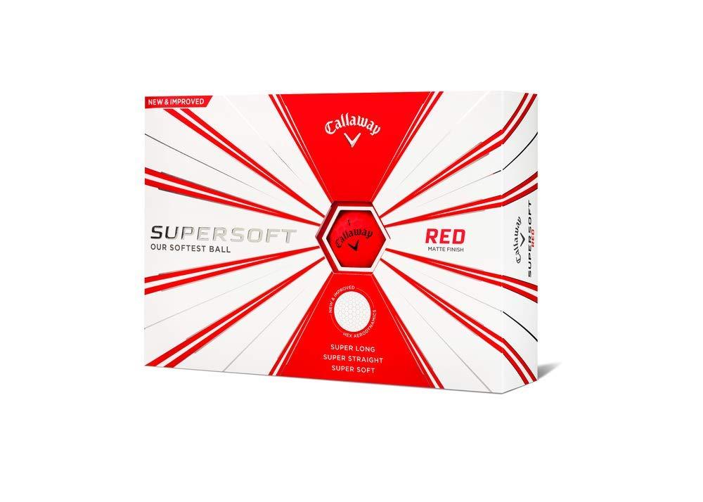Callaway Golf Supersoft Golf Balls, (One Dozen), Red, Matte Finish by Callaway