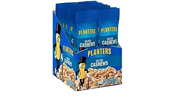 Planters Cashews, Salted, 1.5 Ounce Single Serve Bag