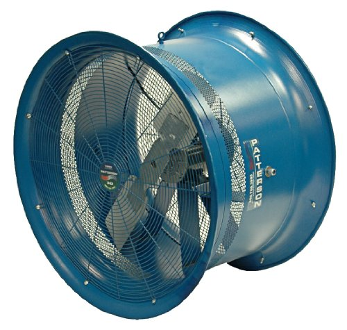 Patterson Fan H22B-CS High Velocity Fan, Three-Phase, 3 Blades, 22'' Diameter, 230/460 Volts, 100ft Air Throw Distance by Patterson Fan