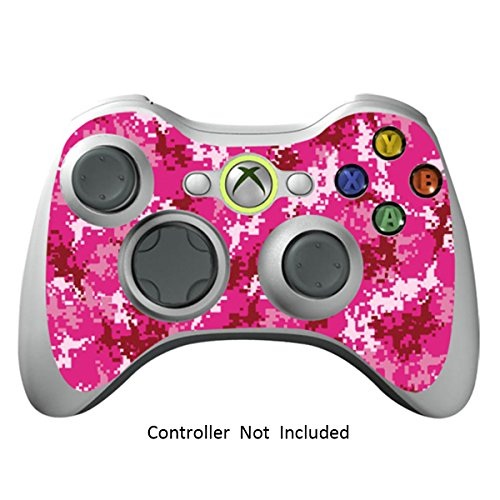 Skin Stickers for Xbox 360 Controller - Vinyl Leather Texture Sticker for X360 Slim Wired Wireless Game Controllers