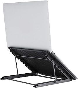 Laptop Stand,Foldable Tablet Laptop Holder Stand Ventilated Adjustable Eye-Level Ergonomic Laptop Riser Laptop Holder Desk Stand for 10