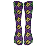 Dafaestest Men Womans Unisex Antique Old Fashioned Motifs In Mardi Gras Holiday Colors Tile Chic Stockings