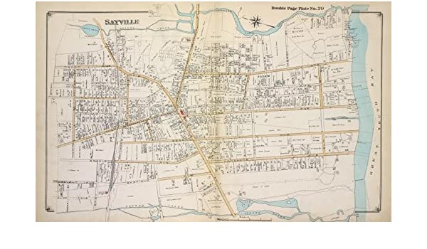 Amazoncom Historic 1915 Map Sayville Suffolk County Ny - Long-island-on-us-map