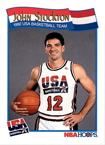 1992 Usa Basketball Dream Team - John Stockton Basketball Card (1992 USA Dream Team) 1991 Hoops #584