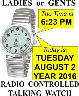 lifemax rnib men s talking atomic watch 407 1 bracelet men s radio controlled talking watch by dayclox