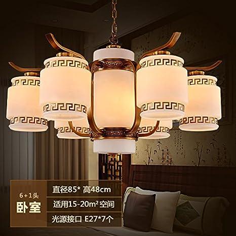 Salón Chino atmósfera creativa retro lámpara iluminación comedor ...