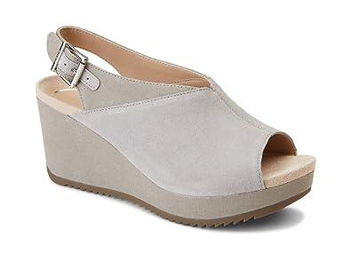 c35f57680 Vionic Women's Hoola Trixie Wedge - Ladies Concealed Orthotic Support Platform  Sandal Light Grey 5 M