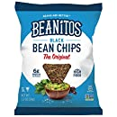 Beanitos Black Bean Chips with Sea Salt, The Healthy, High Protein, Gluten free, and Low Carb Vegan Tortilla Chip Snack, 1.2 Ounce (Pack of 24)