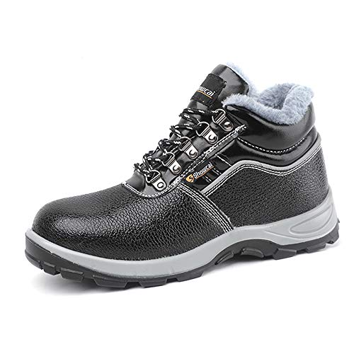 showcai Unisex Steel Toe Work Shoes Industrial&Construction Shoes Puncture Proof Safety Shoes …