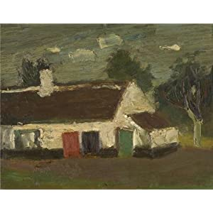Oil Painting 'Gustave De Smet - The Farm', 18 x 23 inch / 46 x 59 cm , on High Definition HD canvas prints is for Gifts And Bar, Home Office And Laundry Room Decoration, graph