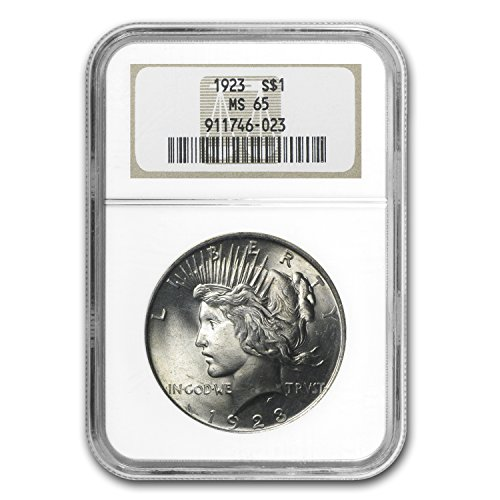 (1923 Peace Dollar MS-65 NGC $1 MS-65 NGC)