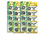 CR2032 3V Micro Lithium Coin Lithium Cell Battery 2032. Genuine KEYKO ® - 20 pcs Pack (4 Blisters)