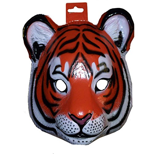 [Forum Novelties Plastic Animal Tiger Mask] (Adult Tiger Mask)