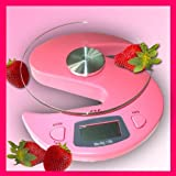 G&G KS-Rosa Digital Kitchen Scales 6000 g / 1 g Letter Scales Table Scales Pink
