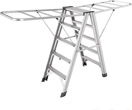 SED Escaleras de tijera multiusos Escaleras Escalera de secado de aleación de aluminio Escalera de doble uso Taburete con peldaños para el hogar Escalera plegable Escalera con 5 peldaños Escalera ant: Amazon.es: