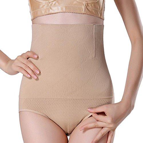 Miracle Women Beige High Waist Seamless Shapewear Panties Underwear Tummy Control Butt Lifter Briefs Body Shaper