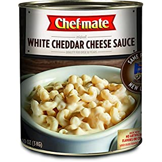 Chef-mate White Cheddar Cheese Sauce and Queso, Canned Food for Mac and Cheese, 6 lb 10 oz (#10 Can Bulk)