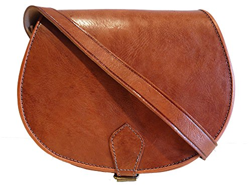 Satchel Hand Saddle Vintage Tan Style Hand In Leather Made Real Bag gYaHwq8
