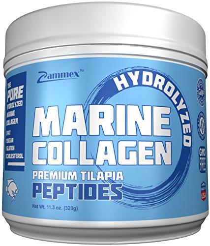 Premium Marine Collagen Peptides (11.3oz) , Pure Anti-Aging Type 1 & 3 Fish Collagen Protein Powder, Nourishing Amino Acids for Hair, Skin, Nails, Non-GMO, Gluten Free, Unflavored, Made in USA