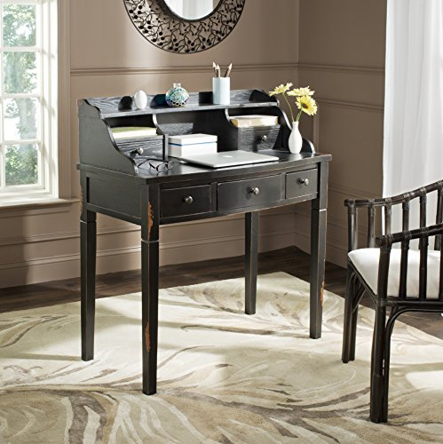 Safavieh American Homes Collection Landon Distressed Black Writing Desk ()