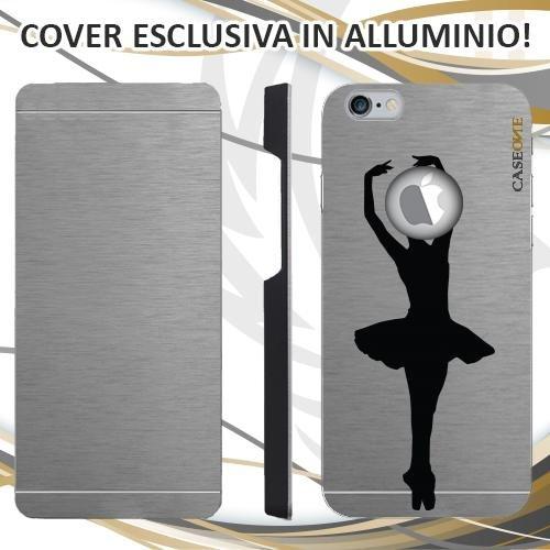 CUSTODIA COVER CASE BALLET BALLERINA PER IPHONE 6S ALLUMINIO TRASPARENTE