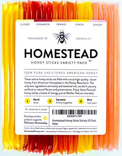 Homestead Flavored Honey Sticks