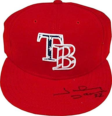 Johnny Damon Autographed Tampa Bay Rays Hat - Autographed Hats