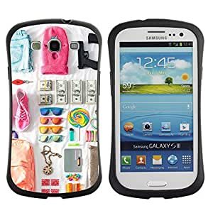 Hybrid Anti-Shock Bumper Case for Samsung Galaxy S3 / Cool Spring Break Outfit