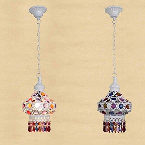 Lustre nordique bleu perles de la Méditerranée rétro conduit de la vision d'un lustre de restaurant + (taille  M), B