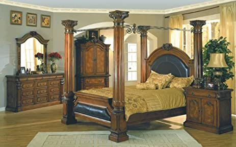 Amazon.com - 5PC Montecito Collection Cal. King Size Bed Bedroom ...