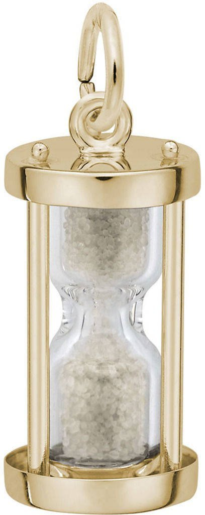 Rembrandt Hourglass Charm - Metal - 14K Yellow Gold