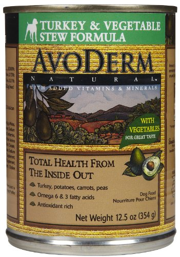 AvoDerm Natural Turkey & Vegetable Stew Dog Food - 12 12.5-Ounce Cans