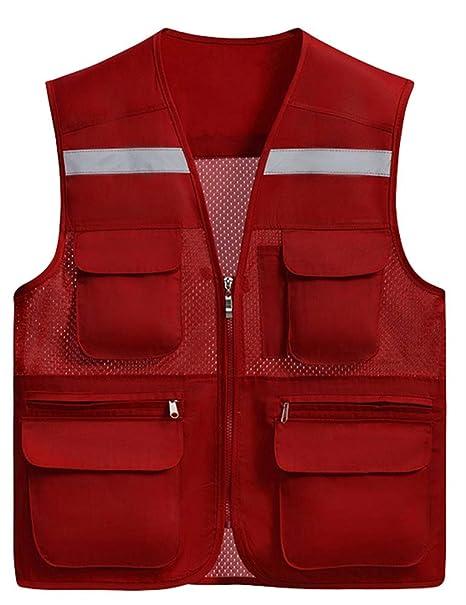 Abbigliamento specifico Abbigliamento SK Studio Gilet di Sicurezza Professionale Gilet ad alta visibilità Riflettente Giubbotto di Sicurezza da Lavoro,Moto
