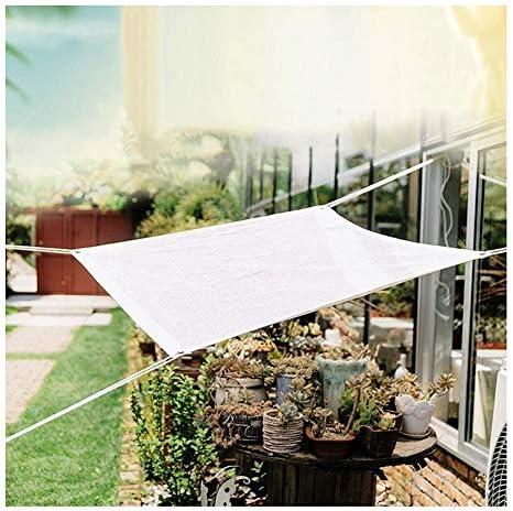 PENGFEI オーニングシェード遮光ネット グロメット付き パティオスガーデン温室用植物 屋外の日除けの天蓋、 複数のサイズ (Color : White, Size : 3X5m)